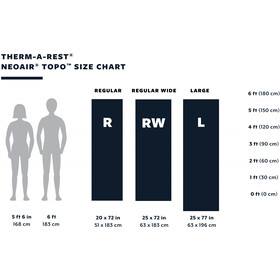 Therm-a-Rest NeoAir Topo Liggeunderlag Regulær bred, grå